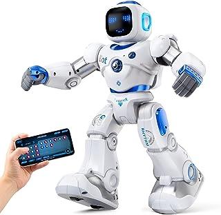 اسباب بازی ربات هوشمند Ruko ، ربات RC تعاملی قابل برنامه ریزی بزرگ با کنترل صوتی ، برنامه APP ، موجود برای 4 5 6 7 8 9 ساله بچه ها و پسران بچه ها