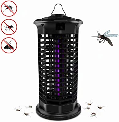 Big Devil Electric Bug Zapper, Powerful Mosquito Trap, Insects Killer with Hook, Light-Emitting Mosquito Lamp for Indoor Home Bedroom,Kitchen, Office(2020 Upgraded Black)