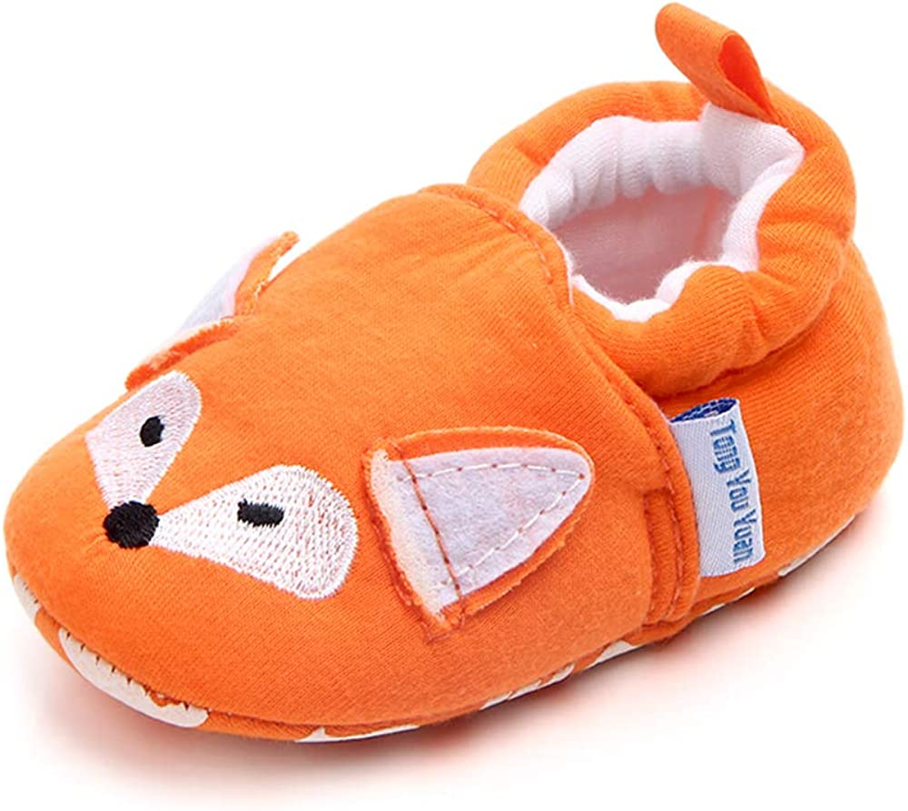Baby Girls Boys Shoes Toddler Slippers Animal Baby Moccasins Non Slip Sneakers Soft First Walkers House Shoes