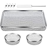 TOODOO 3 Pack Flying Insect Screen RV Furnace Vent Cover (2.8 Inch)(8.5 x 6 Inch) Stainless Steel Mesh with Installation Tool