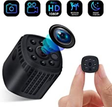 $59 Get Security Camera, Mini Spy Hidden Camera, Full HD 1080P Portable Small Security Wireless Camera with Night Vision,Video Record and Motion Detection for Home, Car, Drone, Office and Outdoor Use