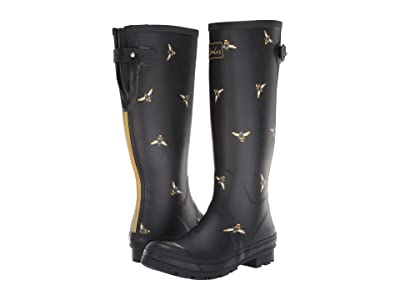 Joules Welly Print (Black Multi Bees) Women