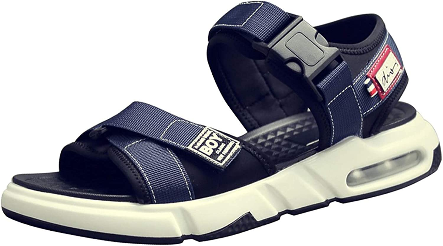 FuweiEncore Men's Casual Sandals Beach shoes Outdoor Sports shoes Slippers (color   bluee, Size   42EU)