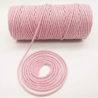 Light Apricot* macrame cord 60 meters long pink rope 5mm thick