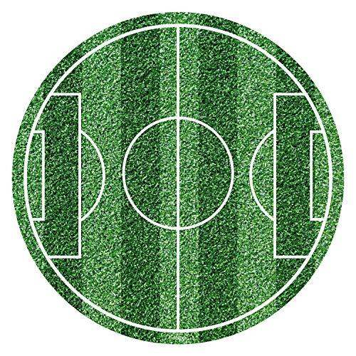 Disco decorativo per torte campo di calcio