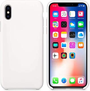 iPhone XS Max Case, Liquid Silicone Gel Rubber Protective Case with Soft Microfiber Cloth Cushion Lining, Slim Shockproof ...