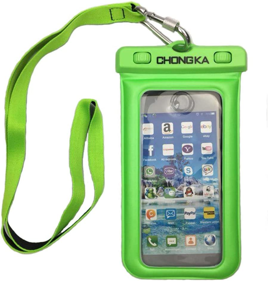 CHONGKA Universal Waterproof Pouch Dry Bag Floating Case for iPhone 11 Pro X 8 7 6S Plus Galaxy Pixel up to 6.0