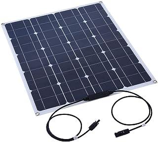 Solpanel, ASHATA 80W Semiflexibel solpanel Monokristallin lättviktsskal Solpanel Batteriladdare för hem/båt/båt/husbil/stu...