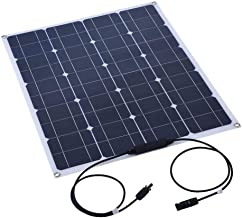 Bewinner Flexible Solar Panel, 80W Monocrystalline Solar Panel Battery Charger, Tear/Corrosion/High Temperature Resistance a Solar Panel Power Efficient for Outdoor Work, Travel Or Camping