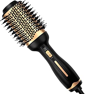 Hair Dryer Brush, Professional Hot Air Brush Hair Dryer and Styler Volumizer with Negative Ion Anti-Frizz Blowout Hair Dry...