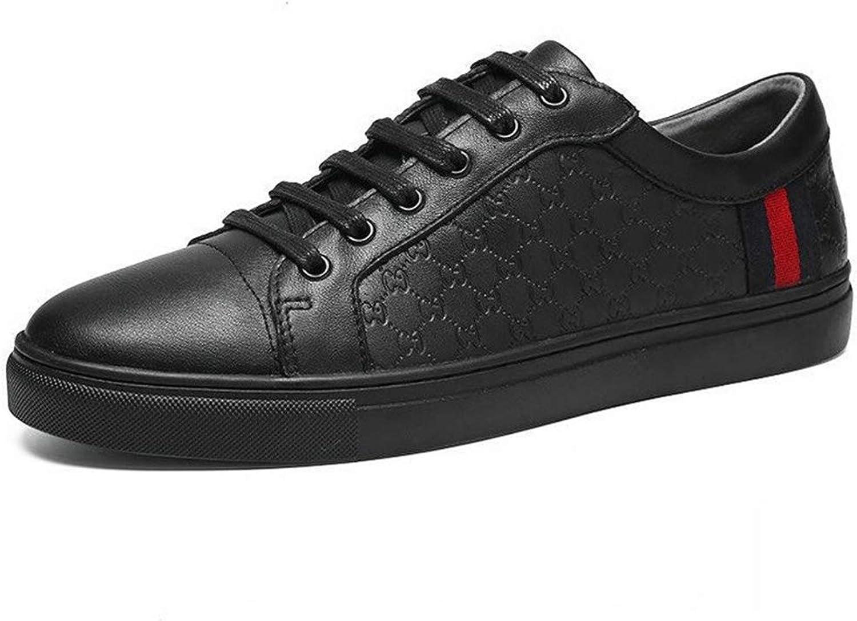Mannar Tillfälliga skor, läderskor, läderskor, läderskor, modeskor, en tillfällig glidning på promänadloafers skor sommar, svart,43  webbutik