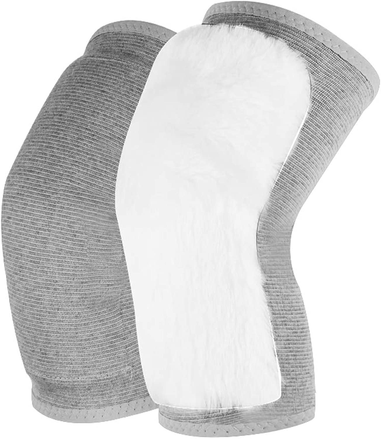 LBYMYB Wool Predection Knee Warm Elderly Cold Legs Female Male Autumn and Winter Thickened Joints Cold and Cold Kneepad (color   Grey, Size   M)