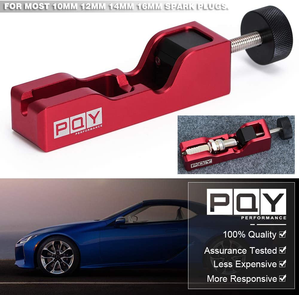 PQY Universal Spark Plug Gap Tool Compatible with Most 10mm 12mm 14mm 16mm Spark Plugs Black