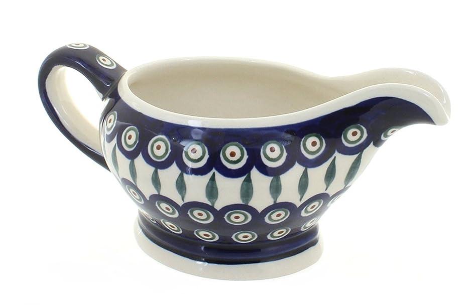 Polish Pottery Peacock Gravy Bowl