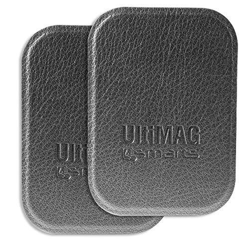 4smarts Metallplättchen UltiMAG 2 Stück Kunstleder grau