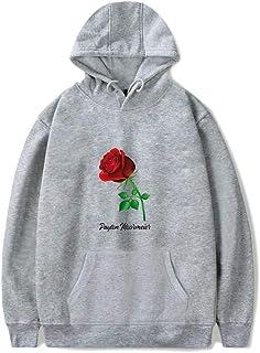 ヒップホップスタイルユニセックスフーディートップペイトンムーアマイヤーブルーミングローズプルオーバースプリングフーディスウェットシャツ