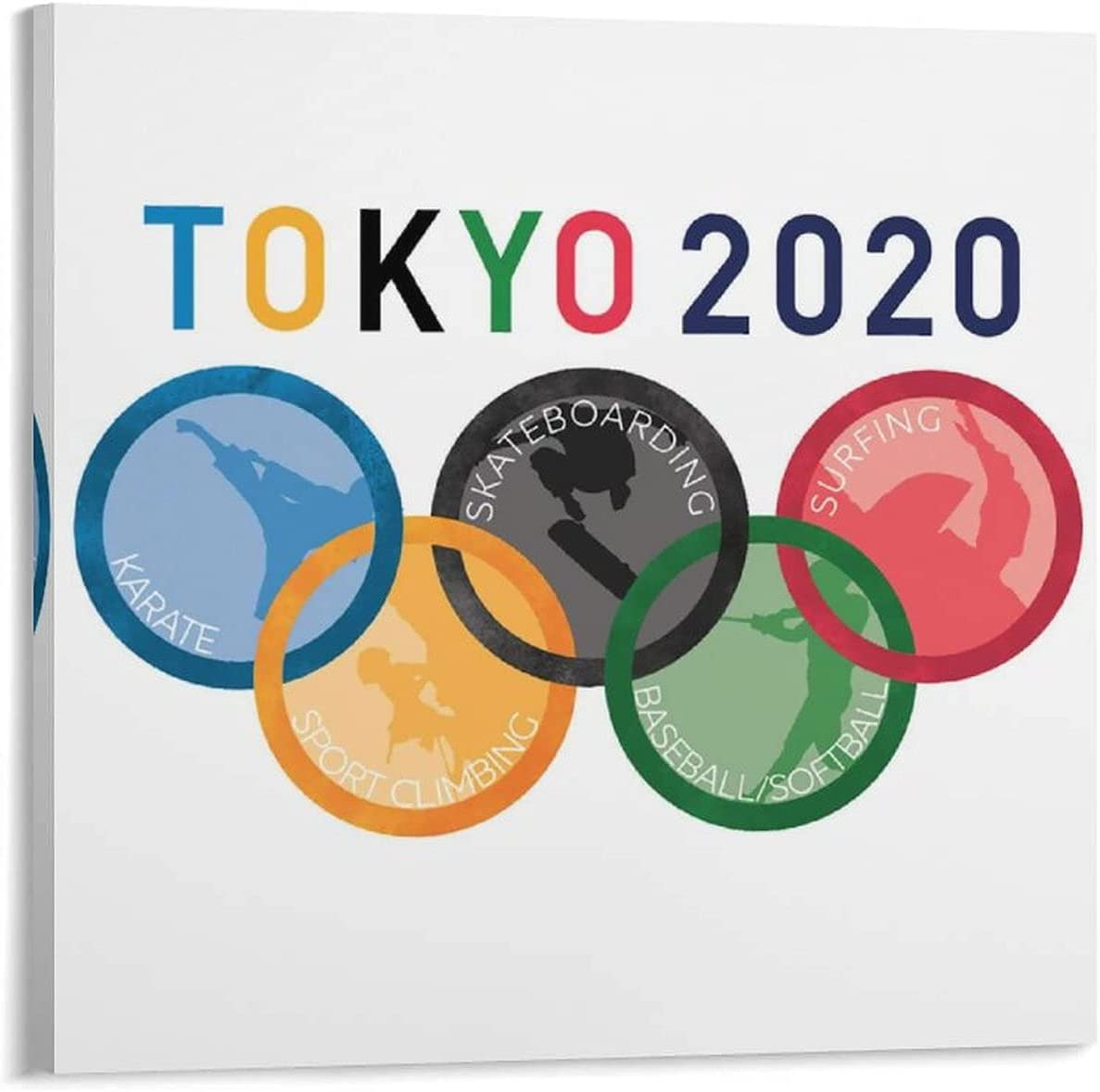 BIEKALANAN Special price for a limited time Tokyo Olympic Sports Funny Painting online shopping Poster Canvas Art