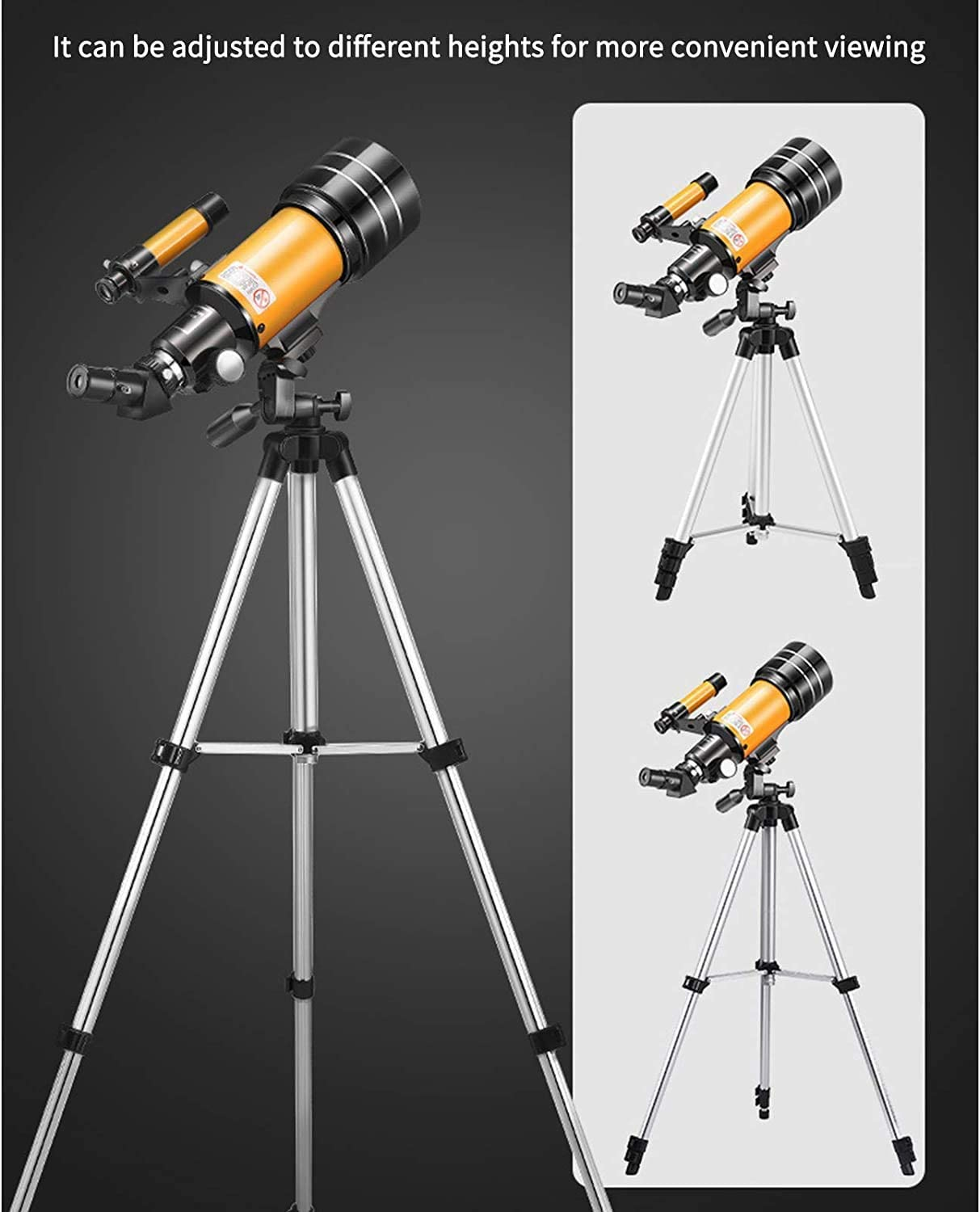 Telescopes for Adults,Andees 70mm Aperture Professional Telescope with Tripod,Astronomical Refracting Telescope Gifts for Astronomy Beginners Adjustable Travel Telescopes,Phone Adapter