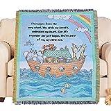 Noah's Ark Animals Cotton Baby Tapestry Throw Blanket