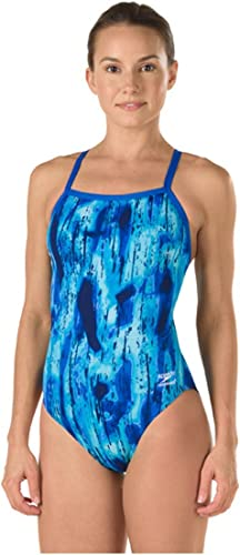 Speedo Endurance+ Art School Flyback maillot de bain, bleu, 34