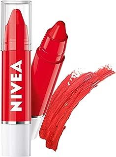 NIVEA Lip Crayon, Coloron Pop Red, Lip Balm, 3g