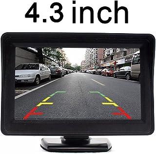 Kalakass 4.3 Zoll TFT LCD Digital Auto View Monitor als Auto Rückfahrkamera, Hochauflösende Bilder & Vollfarb LCD Display für Auto DVD, VCD und Anderen Videogeräten