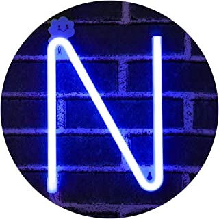 Obrecis LED Letters Neon Letters Alphabet Words Marquee Signs, Light Up Letters Night Lights for Wall, Birthday Party, Christmas, Wedding Decoration-Blue Letters