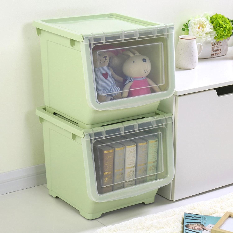 Kelly' Harvest House Support de Boîte de RangeHommest en Plastique à 2 Niveaux empilable (Couleur   vert)
