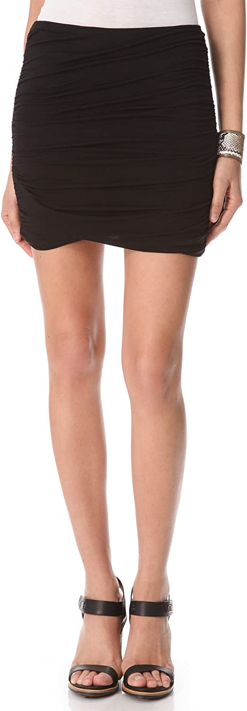 Free People Women's Essential Scrunch Skirt, Black, X-Small