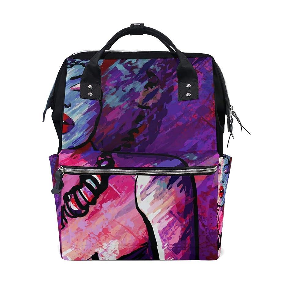 Boho Art Oil Painting Woman School Backpack Large Capacity Mummy Bags Laptop Handbag Casual Travel Rucksack Satchel For Women Men Adult Teen Children