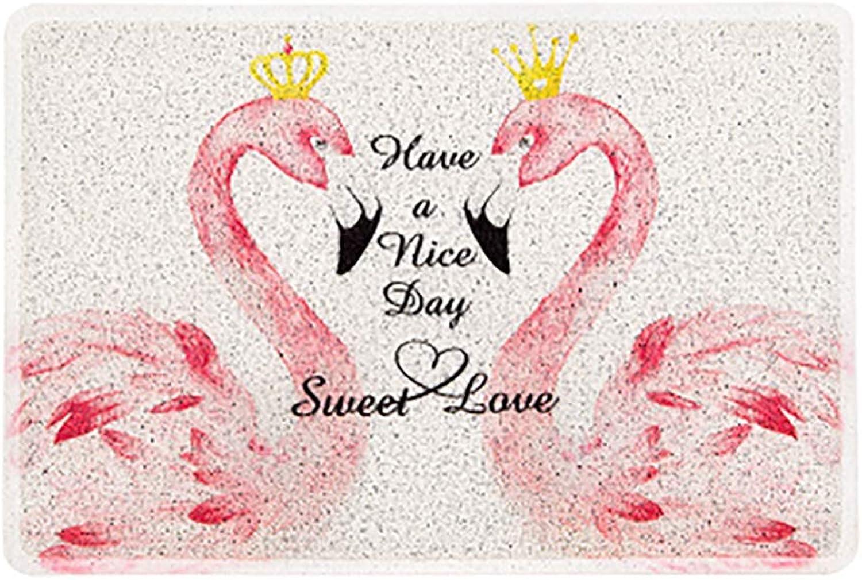 Door mat,Flamingo mats Carpet Door mat Entrance Door mats Front Door Rug Non Slip Door mat-White 60x90cm(24x35inch)
