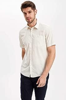 DeFacto Tek Cepli Kısa Kollu Regular Fit Gömlek