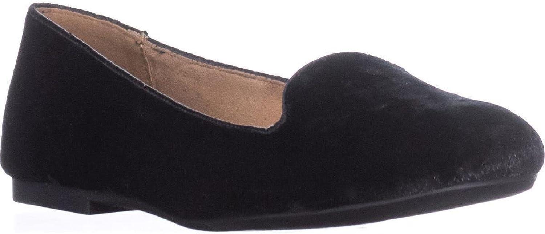 SC35 Alysonn2 Loafer Ballet Flats, Velvet Black
