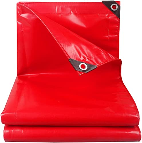 FLY Bache, Bache Extérieure Imperméable à l'eau Et Bache Résistante, Habillage De Pluie De Camion De Toit De Voiture, Rouge