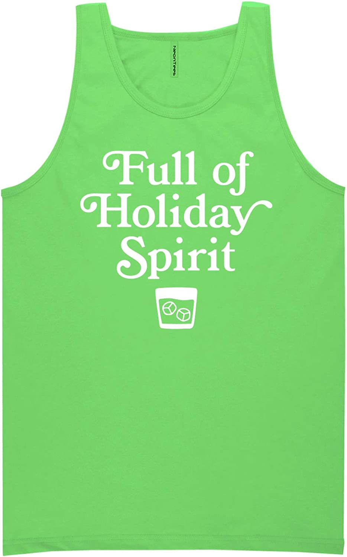 zerogravitee Full of Holiday Spirit Neon Green Tank Top - XX-Large