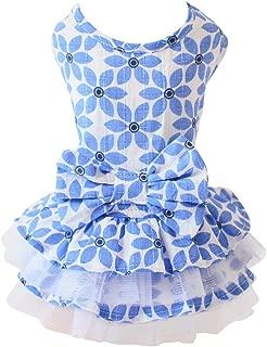 PanDaDa Pet Dog Tutu Princess Dress Clothes Love Heart Print Bowknot Party Skirt