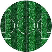 Dekora - Eetbare schijf voor taartopleggers in de vorm van een voetbalveld, Ø 16 cm.