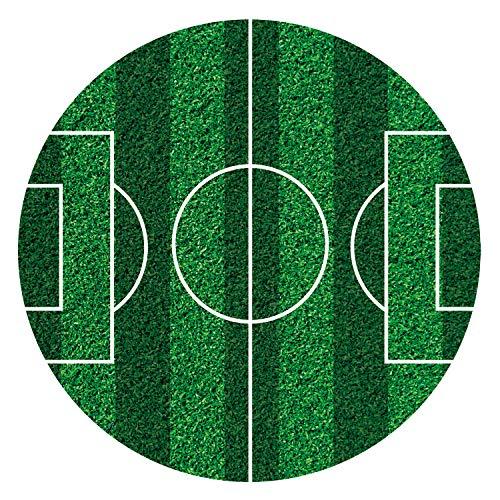 Dekora - Disco commestibile per decorare torte a forma di campo da calcio, Ø 16 cm