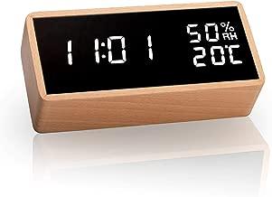 meross LED Digital Alarma Despertador, Mostrar Tiempo, Temperatura y Humedad, 3 Alarmas, 3 Niveles de Brillo. Incluye Cable USB. Adecuado para Familias, Dormitorios, Guarderías y Oficinas MC100.