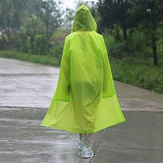 ZXQZ レインコート成人用ハイキングマウンテンポンチョ屋外半透明防水ボディレインコート ポンチョ (色 : Green 1#, サイズ さいず : Xl xl)