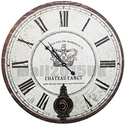 YWYU Creative Decorative Wall Clock Silent Large Wall Clock Battery Operated for Living Room Kitchen Bathroom