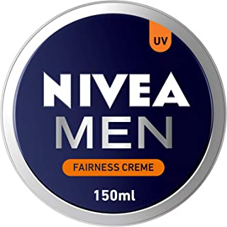 NIVEA MEN Fairness Creme, Face, Body & Hands, Fair & Even Skin Tone, Tin 150ml