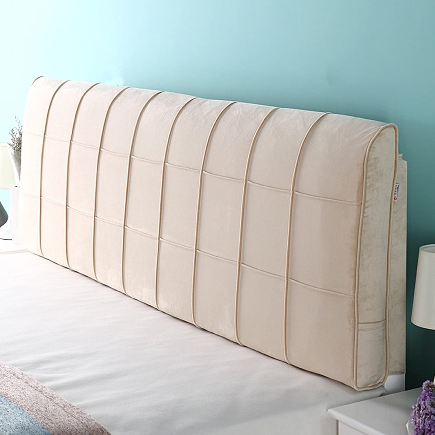 WENZHE Upholstered Fabric Headboard Bedside Cushion Pads Cover Bed Wedges Backrest Waist Pad Cloth Art Large Back Simple Modern Multifunction Washable, There Is Headboard   No Headboard, 4 colors, 6 Sizes ( color   4  , Size   With headboard-70cm )