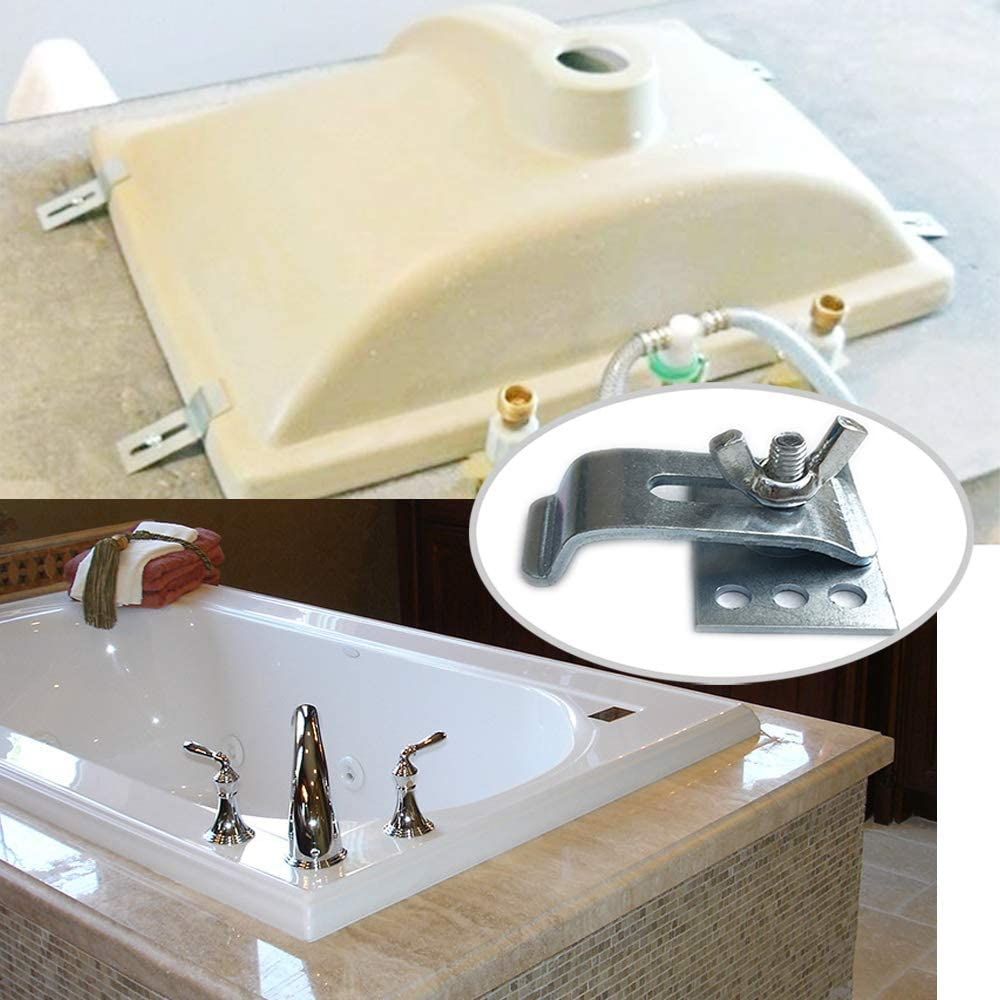 Buy Sink Clips Undermount Kitchen Sink Clips Epoxy Undermount Sink Brackets Supports For Bathroom Kitchen 10 Pack Kit Online In Indonesia B07k7hcsyh