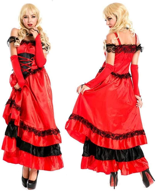 KAIDILA Red Latin Dance Princess Dress Halloween Female Adult Costume Cosplay Nightclub Night Bar Ds Performance Costume