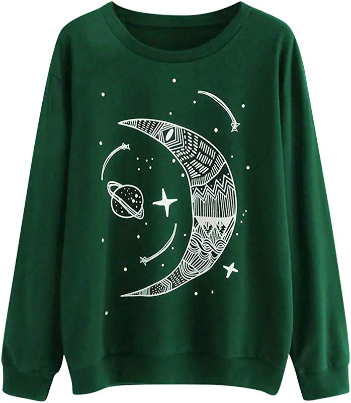 Yetou Women Casual Long Sleeve Pullover O Neck Solid Color Letter Pattern Tops Plus Velvet Sweatshirt