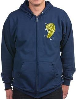 CafePress 4K French Horn Fix Green Zip Hoodie, Classic Hooded Sweatshirt with Metal Zipper