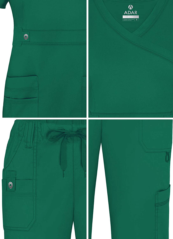 Adar Uniforms Tenue Aide Soignante Blouse Crois/ée /& Pantalon Poches Multiples