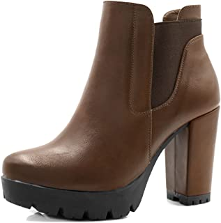 Best black and brown color block boots Reviews