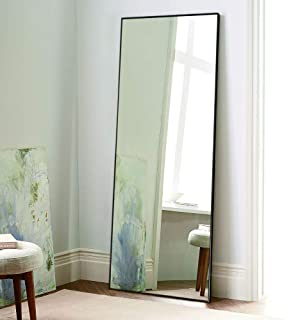 black full length floor mirror